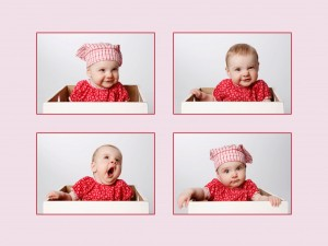 collage-vierfach-baby-lachen-albern-shooting