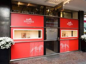 hermes-freisfeld-münster-foliendruck-dekoration-shopgestaltung