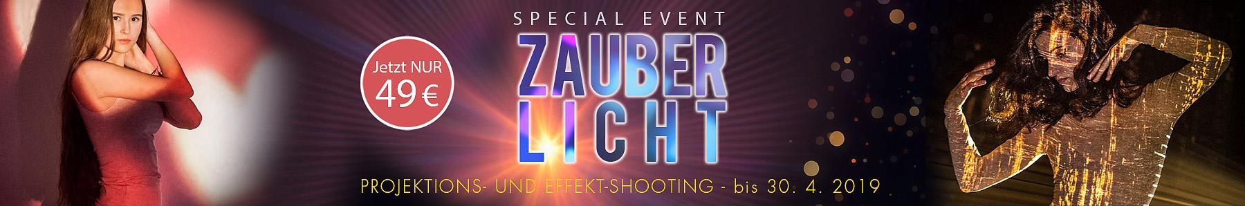 Banner für Mottoaktion Fotoshooting Zauberlicht