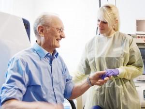 Firmenportrait, Patient bei Behandlung
