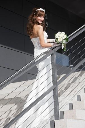 Hochzeitsfotograf, Braut mit Blumenstrauss