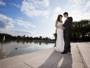 Hochzeitsfotograf, Brautpaar am See