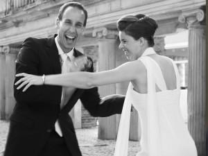 Hochzeitsfotograf, Brautpaar in verschiedenen Posen