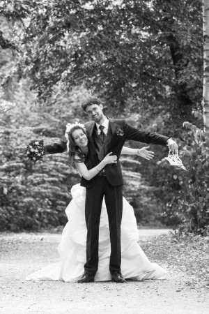 Hochzeitsfotograf, farbig schwarz weiß collage
