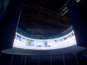 Foto einer Ausstellung, Großformatdruck
