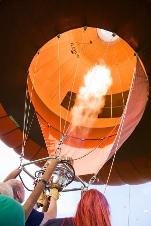 Detailfoto Heißluftballon Feuer