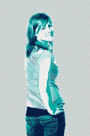 Bildbearbeitung, Stilisierung eines Portraits für Werbezwecke