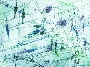 Bildbearbeitung, Motive von Kabeln überblendet