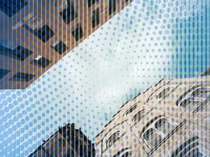 Bildbearbeitung, Halbton Effekt Architektur Motiv