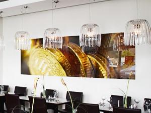 Wandbild Acrylglas im Esszimmer