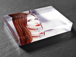 Acrylglas Block mit Portraitfoto