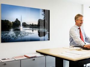 Wandbild Büroraum Austattung