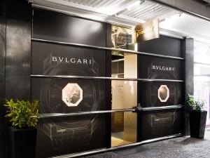 Gestaltung einer Shopfassade eines Juweliers mit Fotodrucken