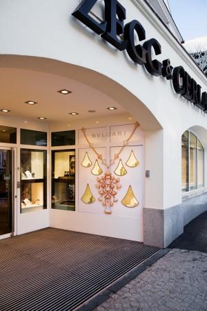 Shopgestaltung Außenwerbung, Acrylglas Ausschnitt