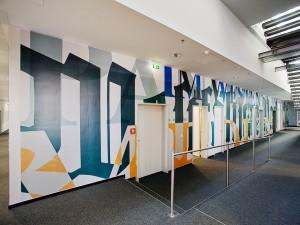 Stoffdruck Wandtapete für Büro und Flur