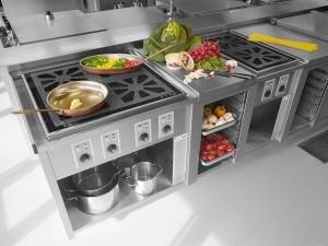 Industriefoto moderner Küche