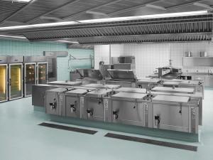 Industriefoto Räumlichkeiten einer Küche