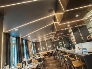 Architekturfoto, Gastronomie mit spezieller Beleuchtung