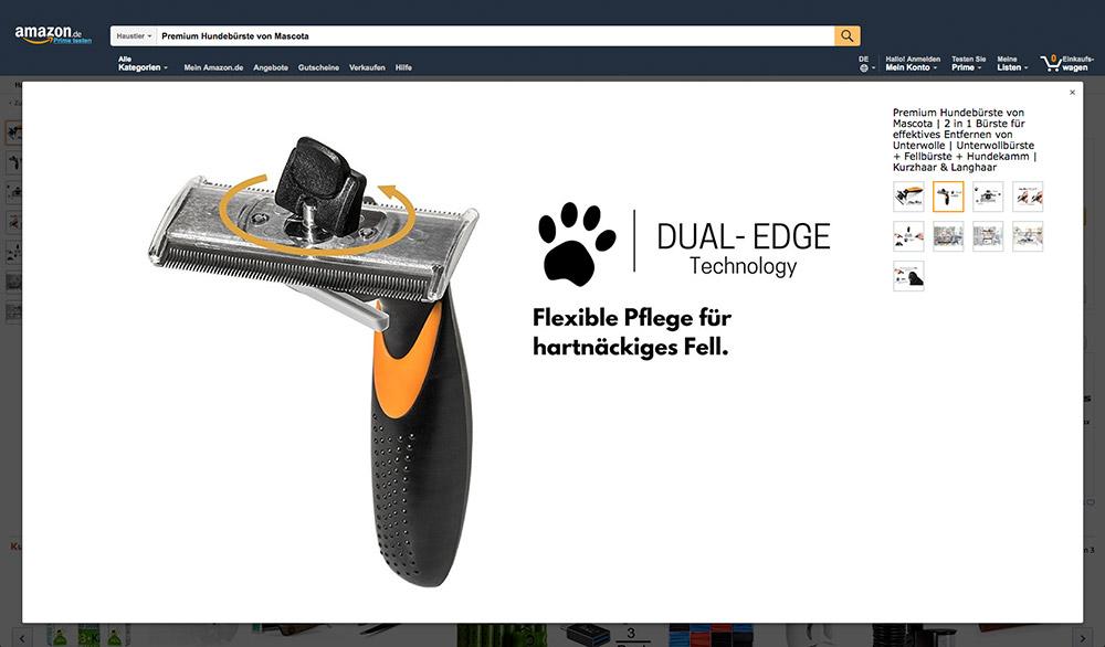 Beispiel für Produktfotografie Mascota