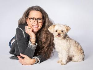 Tier Fotograf, Portrait von Besitzer und Hund
