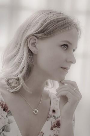 Weiches Beauty Portrait in schwarz weiß