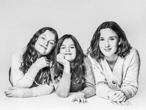 Kinder Fotoshooting, Schwestern Liegend