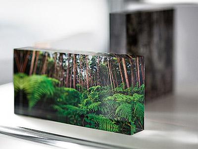 Deko Objekt, Acrylglas Block mit eigenem Motiv